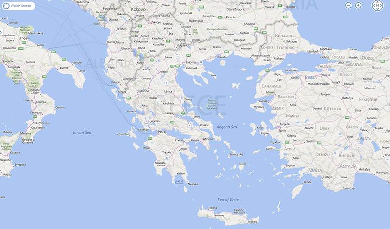 Where Is Corfu The exact location of Corfu Island in Greece
