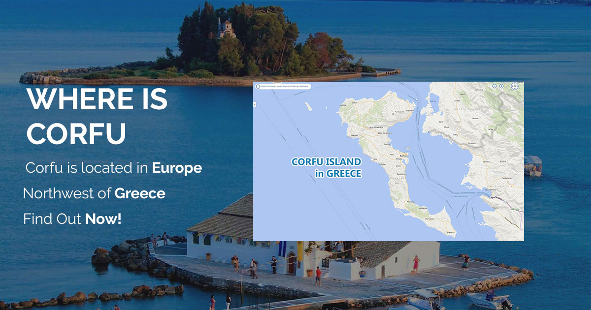 Map Of Corfu Greece Island